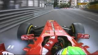 Crash of Felipe Massa in FP3 Monaco