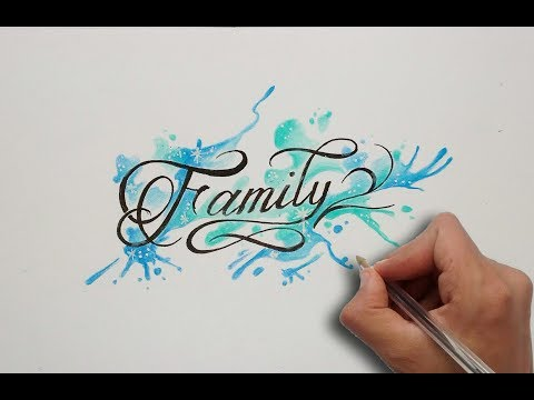 Diseño letras FAMILY / FAMILY lettering tattoo - Nosfe Ink Tattoo