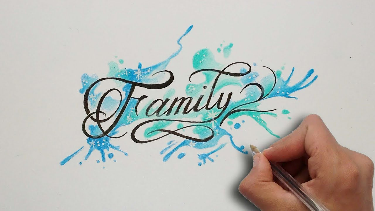 Dise o letras family family lettering tattoo nosfe ink tattoo youtube - Letras para tatuar ...