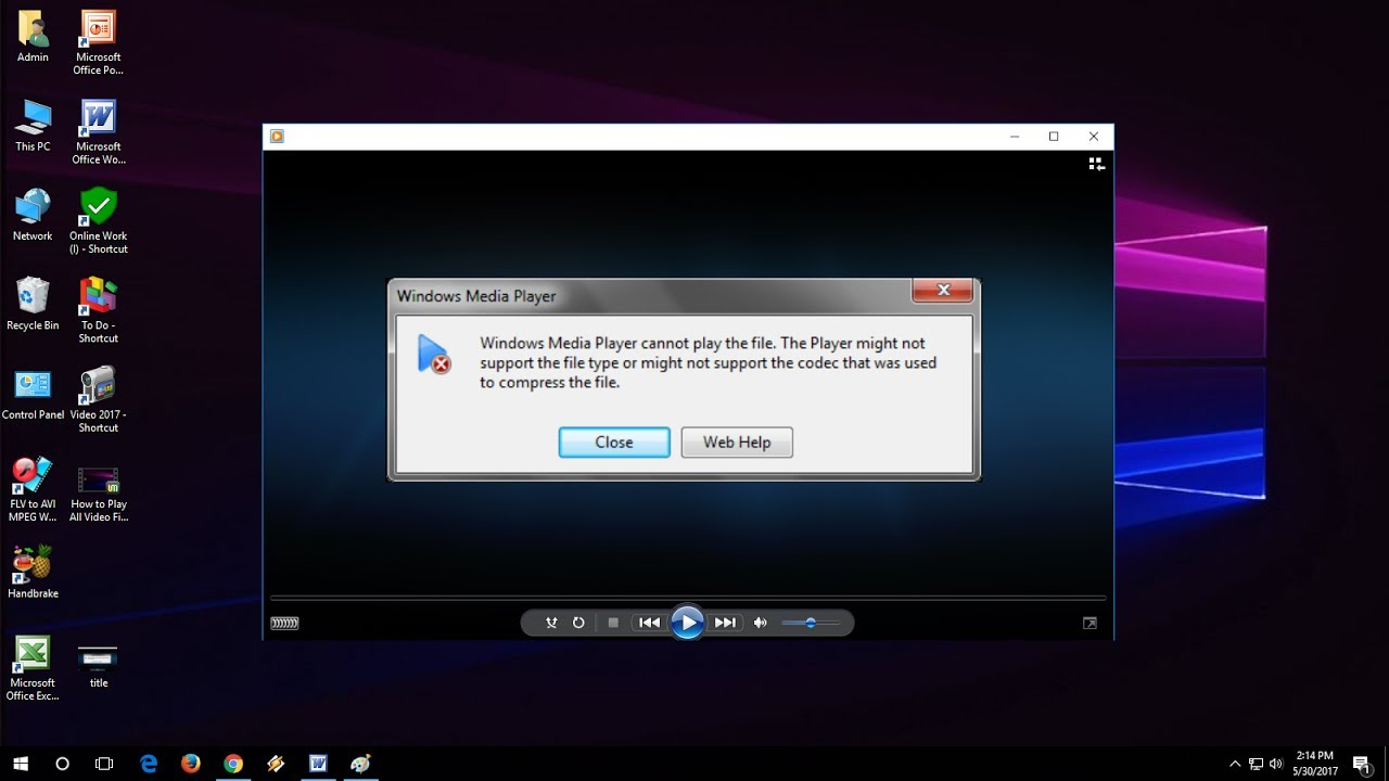 How to Play All Video File Formats in Media Player (Fix Can't Play the file)