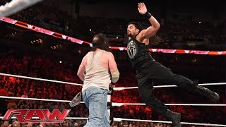 Roman Reigns vs. Luke Harper: Raw, Aug. 17, 2015