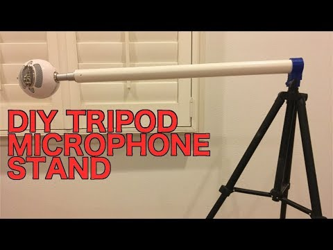 DIY 3D Printed Microphone Stand for Tripods