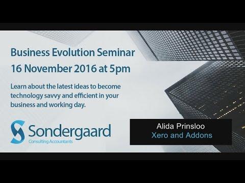6 Alida Prinsloo - Xero and Addons - Sondergaard Accountants Business Evolution Seminar