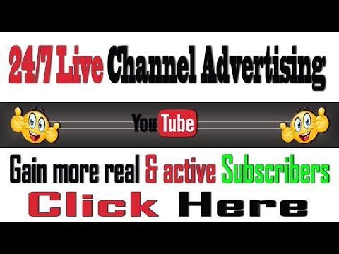 24/7 Livestream Channel Advertising | 24/7 Promote your YouTube Channel Here | Monthly Cycle October