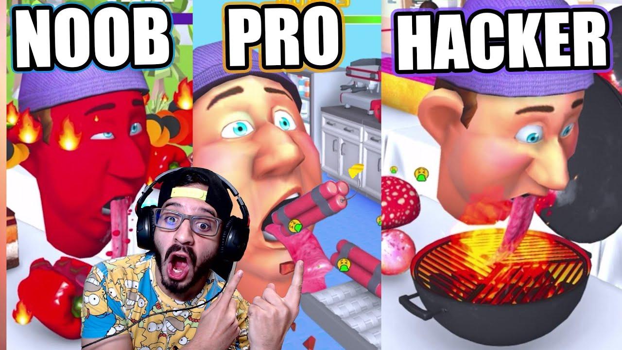 NOOB vs PRO vs HACKER en LICK RUNNER 3D | Juegos Luky