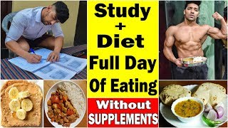 Diet Without Supplements | Full Day Muscle Building Diet | Bodybuilding