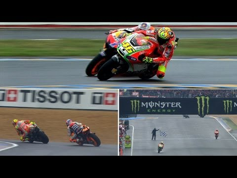 Best Battles of 2012: Valentino Rossi vs Casey Stoner in Le Mans