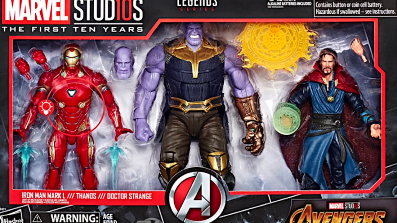 Marvel Legends Avengers Infinity War Thanos Iron Man Doctor Strange Marvel Studios 10 Years
