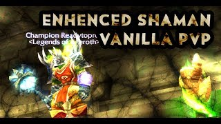 WOW VANILLA enhenced shaman pvp windfury proc into space