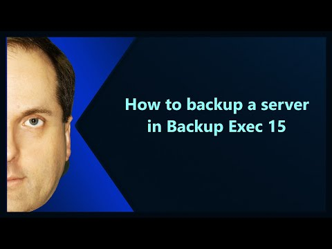 How To Backup A Server In Backup Exec 15