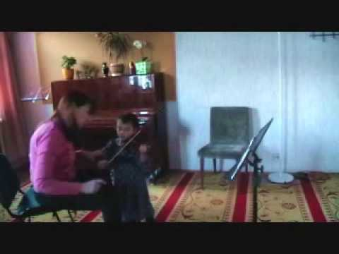 Violin lesson in Gnesin special musical school (Moscow, Russia)