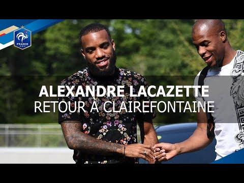 Alexandre Lacazette à Clairefontaine