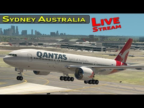 Sydney Australia International Airport With Live ATC  And Airline Flight Schedules | X-Plane 11