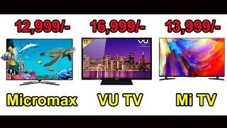 Mi Led TV 32, Micromax LED TV 32 Inch, VU 32 Inch LED, Which Is Best