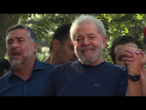 Brazil's Lula arrives at mass for late wife Marisa