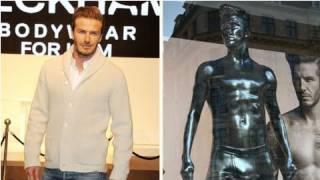 David Beckham's Underwear Launch Includes a Very Sexy Statue