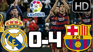 Real Madrid 0-4 Barcelona| RESUMEN Y GOLES HD| CLÁSICO| 21-11-15