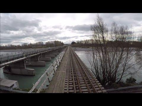Geoffs Rail View :      Christchurch to Rangiora   New Zealand