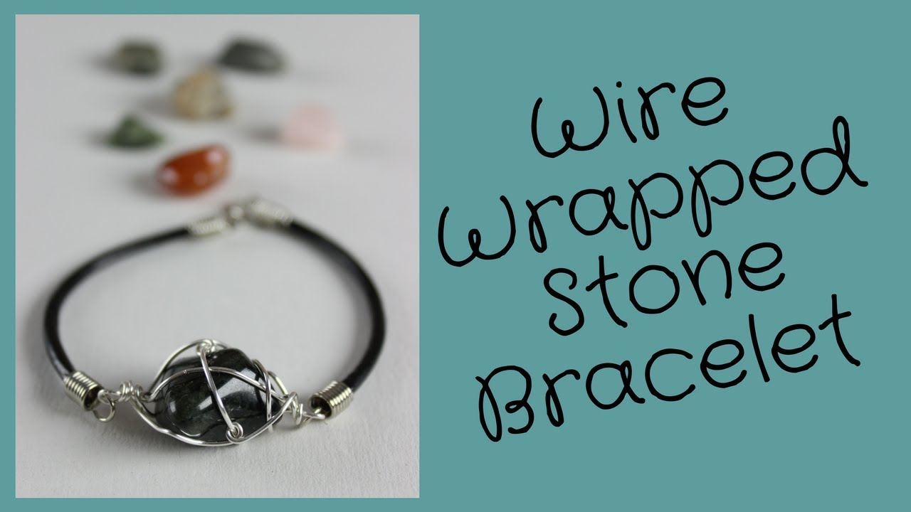 DIY Wire Wrapped Stone Bracelet with What\'s Up Montreal - YouTube