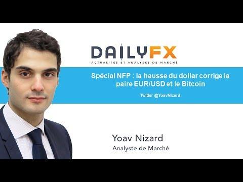 Spécial NFP : la hausse du dollar corrige la paire EUR/USD et le Bitcoin
