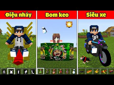 bqThanh và Ốc Chế Tạo Ra Những Vật Phẩm Game Free Fire Siêu Vip Trong Minecraft