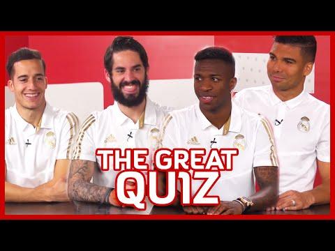 THE GREAT QUIZ - Lucas Vázquez, Isco Alarcón, Vinícius y Casemiro | Real Madrid | Mahou