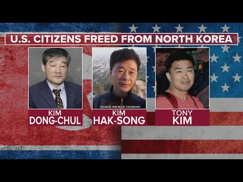 Three Americans Held In North Korea Freed