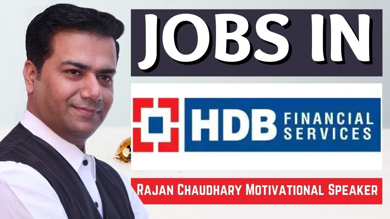 Jobs in HDB Financial Services | Jobs in India | Jobs in Private Companies | Rajan Chaudhary