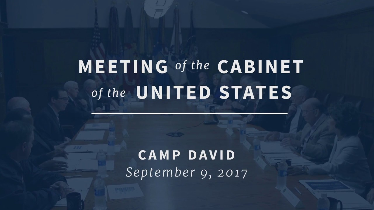 President Trump's Remarks at Camp David Cabinet Meeting - Sept. 9 ...
