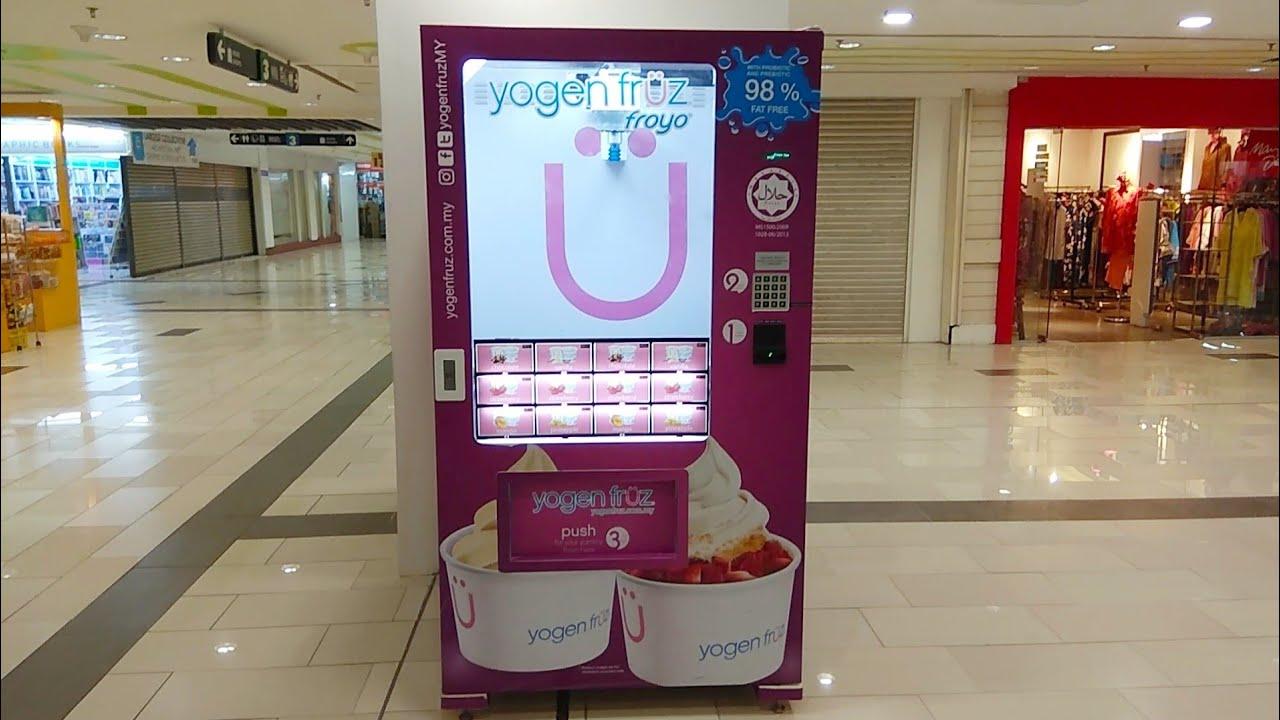 Vacuum Frozen Yogurt Vending Machine Youtube