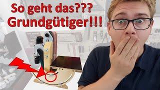 🔥 Bandschleifer stationär mit einfachem Werkzeug selber bauen - Mit 90° 🍌 Tisch!!