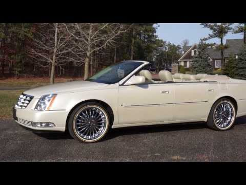 SOLD-- 2009 Cadillac DTS Deville Convertible~Low Miles~Beautiful~NEW Vogue Chrome Wheels