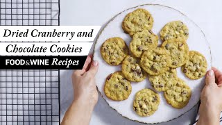 Double Chocolate Chip and Cranberry Cookies | Food & Wine Recipes