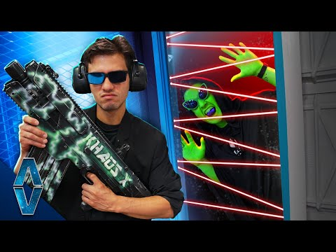 Area 51 Prison Escape NERF Challenge!