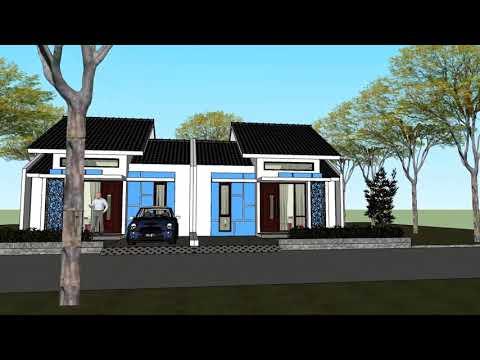 desain rumah type 45 2 kamar tidur - youtube