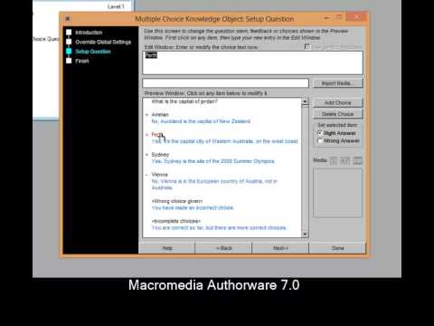 How to make Quiz in Authorware