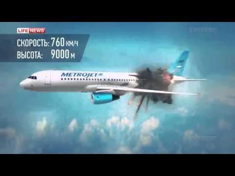 Восстановлена картина взрыва на борту самолета А321