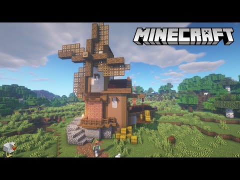 Minecraft Windmill Tutorial   How to Build