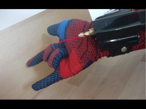 "Electromagnetic Spiderman ""Webshooter"", made from scratch"