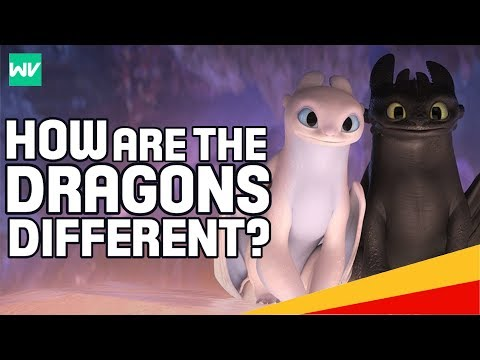 Night Fury VS Light Fury Explained! - What's The Difference? | How To Train Your Dragon 3