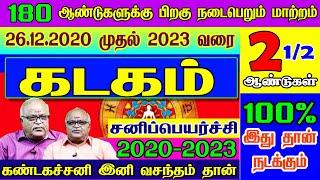கடகம் ராசி சனிப்பெயர்ச்சி பலன்கள்   Kadagam   Sanipeyarchi Palangal 2020-2023   2020-2023