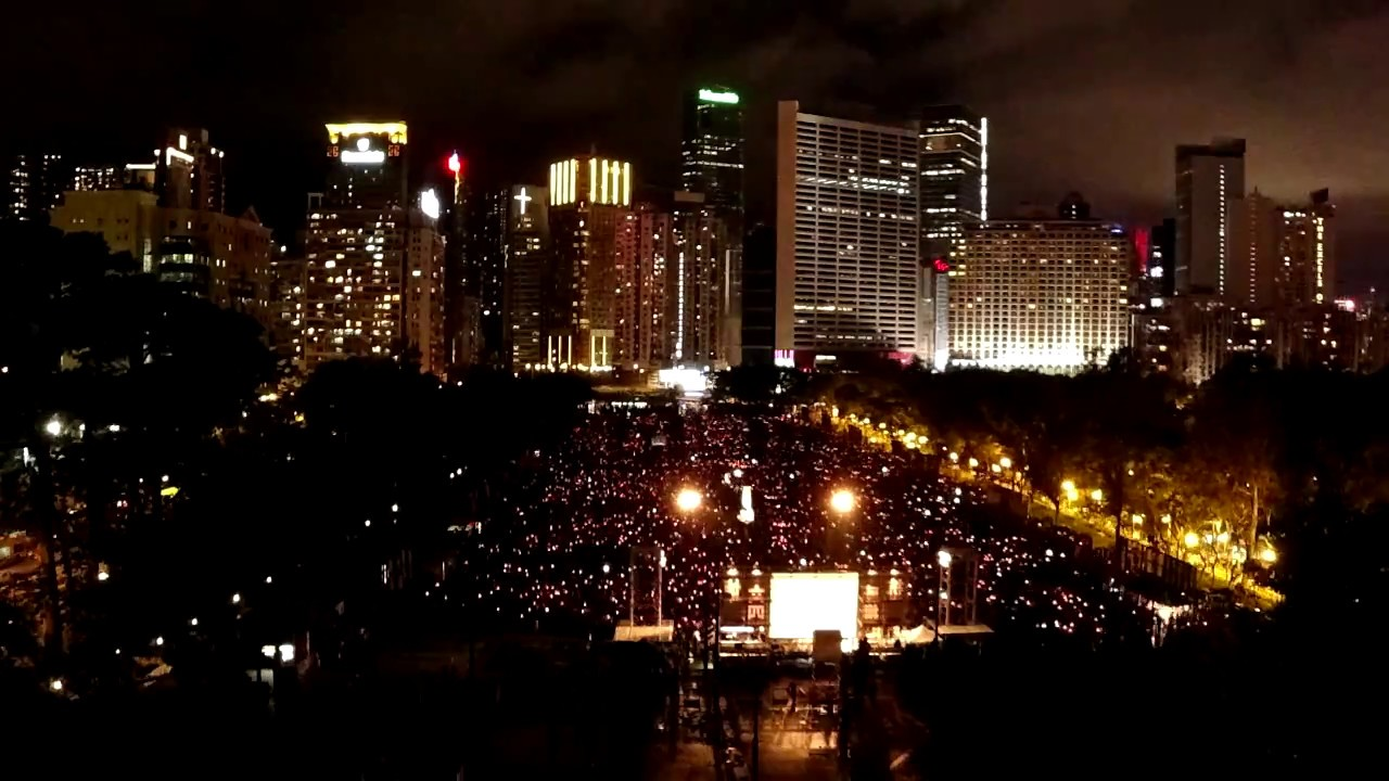Timelapse video: June 4th candlelight vigil for 1989 Tiananmen Square Massacre Victim 4th June 2018
