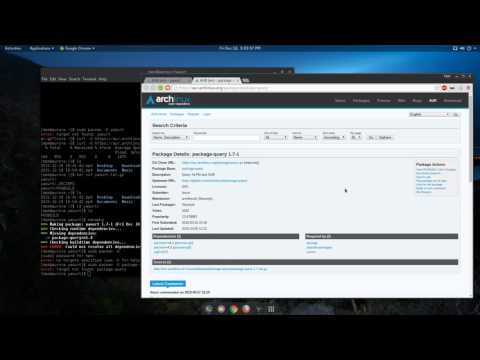Arch Linux: Install Yaourt from Arch User Repository