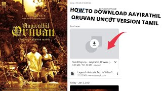 How to download Aayirathil oruvan uncut version in Tamil👌👌