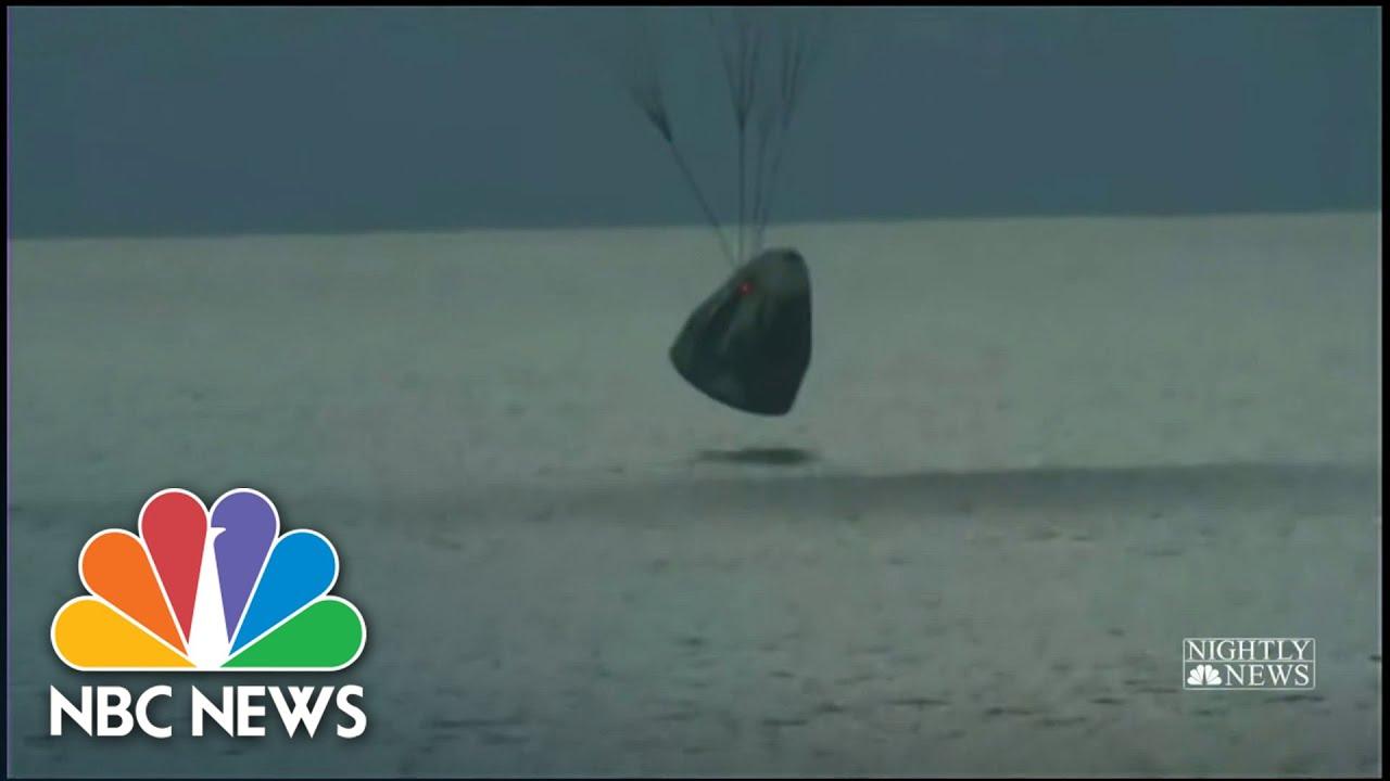 Space X Dragon Capsule Makes Historic Splashdown