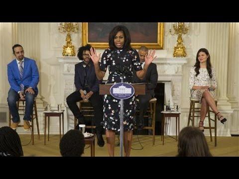 Michelle Obama Praises 'Hamilton'