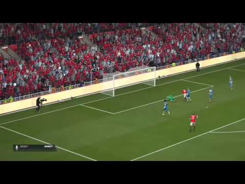 Memphis Depay volleyed goal Vs Colchester United F.C. #FIFA15