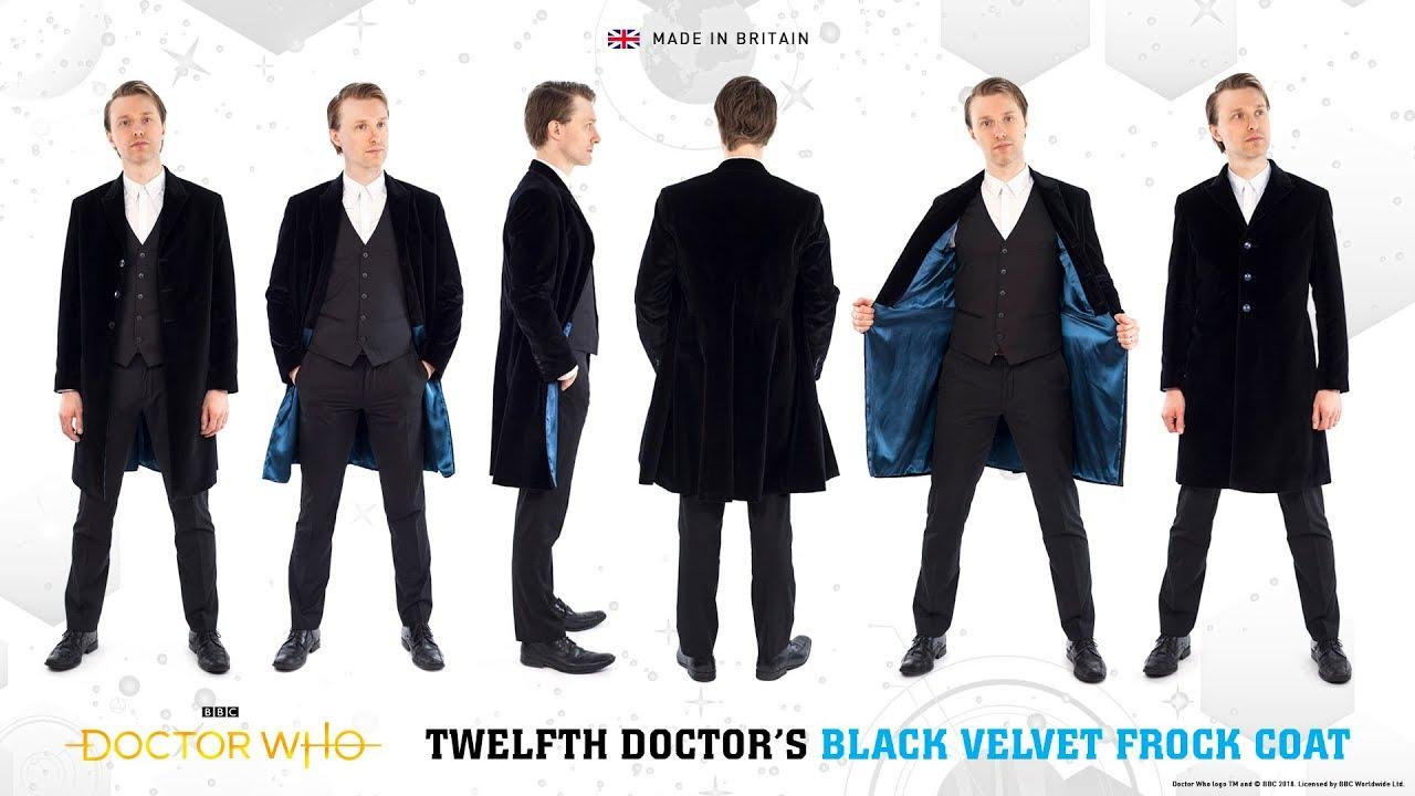 4a6114222d05 Twelfth Doctor's Black Velvet Frock Coat - Doctor Who - YouTube