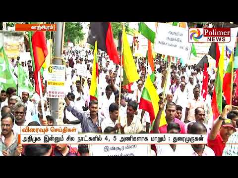 ADMK will split into 4 or 5 more partys says Durai Murugan | Polimer News