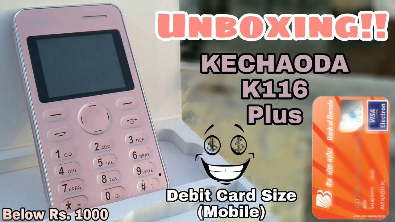 Kechaoda K116 Plus Slim & Stylish Dual Sim phone, With Camera, FM & BT  receiver || PG TecH EasY